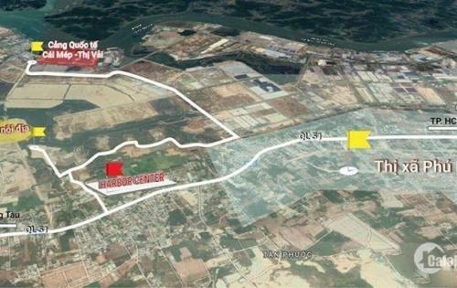 Chỉ 300tr sở hữu 100m2 đất nền khu đô thị Cảng Cái Mép, sổ đỏ riêng, XD tự do