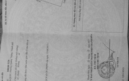 BÁN ĐẤT MB 5226 16L5 PHƯỜNG QUẢNG THẮNG TP THANH HÓA