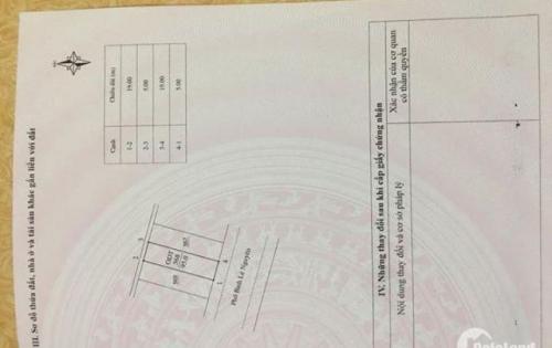 Bán đất mặt phố Chu Văn An, Vĩnh yên, Vĩnh Phúc. Hướng tây, giá 4,6 tỷ.LH: 0989916263