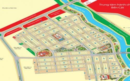 Bán đất mặt tiền trung tâm thị xã Bến Cát, Sát bên chợ Bến Cát, Trung tâm hành chính Bến Cát.