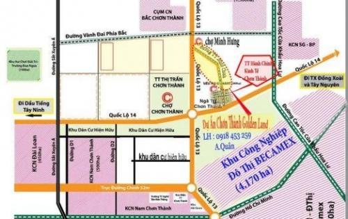 Đất nền TTTM VINCOM Chơn Thành Giá Rẻ Chỉ Tu 2,3triệu/m LH:0934182078