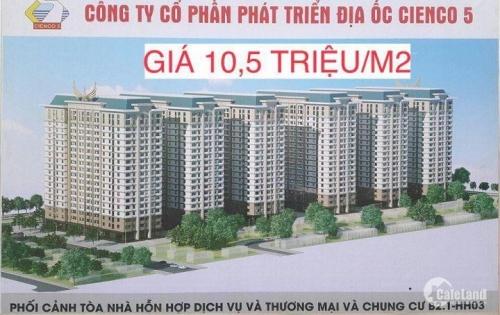Chung Cư B2.1 HH02 Thanh Hà Mường Thanh 10,5tr/m2