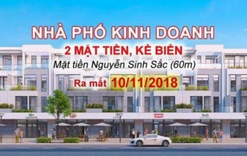 Siêu dự án shophouse mặt tiền Nguyễn Sinh Sắc cách biển 250m