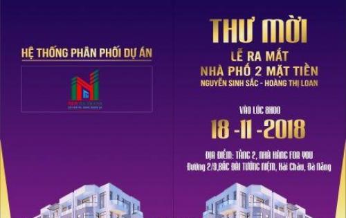 Nhà phố kinh doanh 2 mặt tiền Nguyễn Sinh Sắc-Hoàng Thị Loan, cách biển 500m