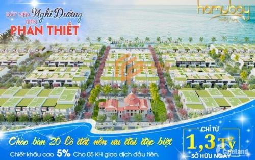HOT! Đất nền mặt tiền biển Hamubay Phan Thiết giá chỉ từ 1.3 tỷ/lô