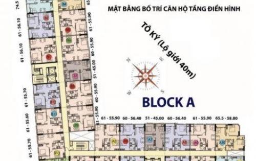 Căn hộ Toky Tower Chính chủ cần bán gấp căn 61m2, 2PN, 2WC, LH: 0938 49 01 49