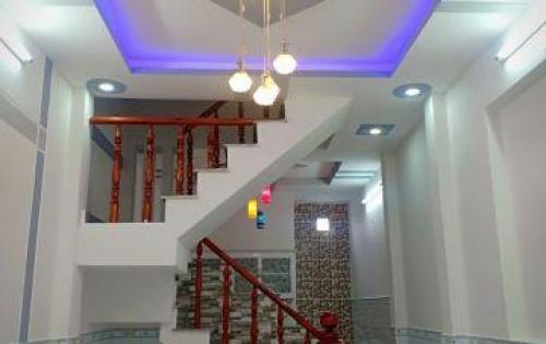 Bán nhà Bùi Văn Ngữ, gần ngã 3 Đông Quang quận 12, nhà phố 1 trệt 2 lầu giá 1,45 tỷ(ctl)