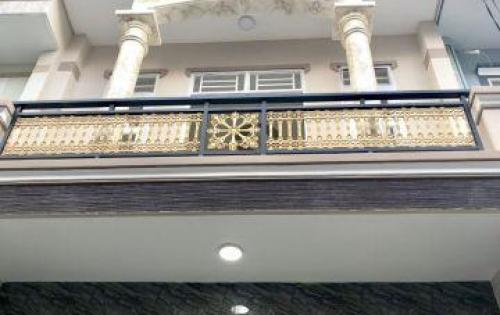 Bán nhà 1 trệt 2 lầu 1 sân thượng giá 4,x tỷ , cạnh metro quận 12