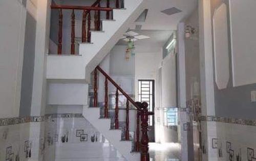 Bán gấp nhà mới xây 1 trệt 2 lầu 3.2x9,2m hẻm xe hơi gần đường Nguyễn Thị Đặng giá 1tỷ6