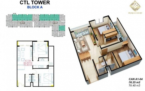 Hot! Căn hộ CTL Tower Tham Lương, Ngay tuyến Metro chỉ 22 Tr/m2 DT 55-85m2. LH: 0934 058 039