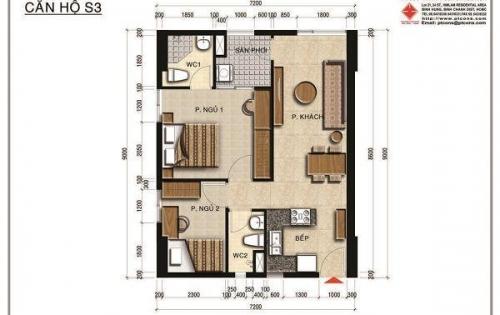 Bán gấp Officetel Centana Thủ Thiêm tầng 8, góc view hồ, 61m2, rẻ hơn thị trường 80 triệu