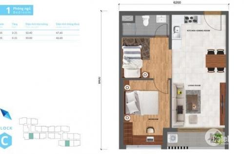 Bán căn hộ Safira 2PN, cách quận 1 chỉ 15 phút, thanh toán 500 triệu, gọi 0916673336