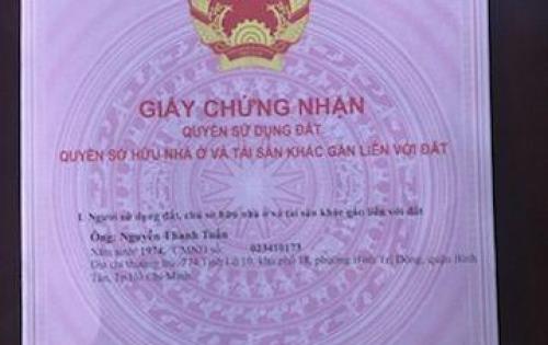 Cần bán lại căn hộ mặt tiền đường 24A, Bình Trị Đông B, Bình Tân