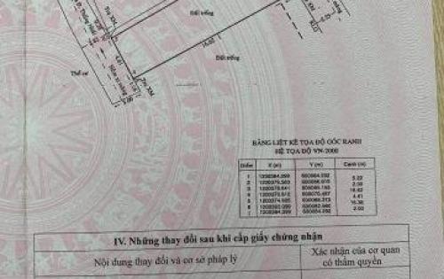Bán đất P15, Quận Gò Vấp, 91m2 tóp hậu nhẹ giá 3 tỷ 5