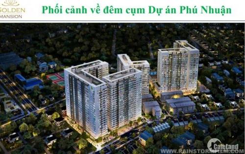 Bán nhanh Golden Mansion 69m2 2PN, GIÁ CỰC RẺ, tầng cao, view hồ bơi
