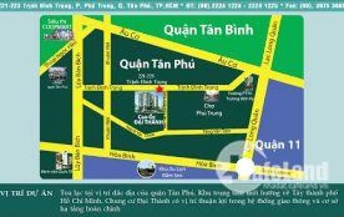 Căn hộ sắp bàn giao giá tốt, trung tâm Tân Phú, 1.5tỷ/68m2 ngân hàng cho vay 70%, nhận nhà ở ngay