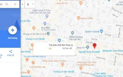 Nhà mặt tiền Trương Vĩnh Ký-Quận tân phú DT:8X18m2