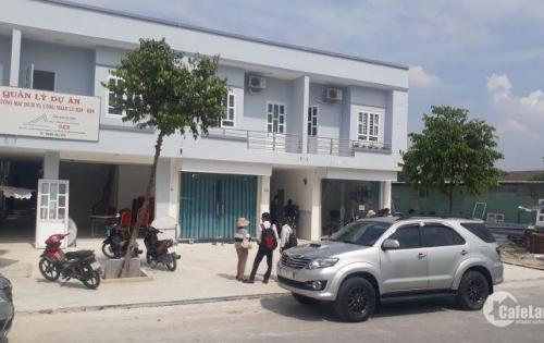 Nhà mới xây mặt tiền 16m, gồm 1 trệt 1 lầu và 4 căn trọ trong KCN, gần công ty dệt hơn 10.000 công nhân.