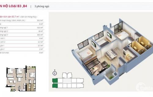Chủ nhà cần bán gấp căn hộ  An Bình City 03 Phòng ngủ, 81m2, giá 2,530 tỷ