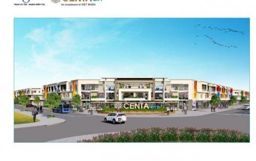 CENTA SHOPHOUSE 120m2 có sẵn nhà 3 tầng hoàn thiện ngoài, mặt tiền 6m đường trước nhà 26m giá chỉ 3 tỷ