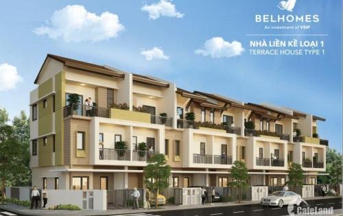 Bán căn liền kề BelHomes Vsip 75m2 giá 1,9 tỷ- LH 0857002345