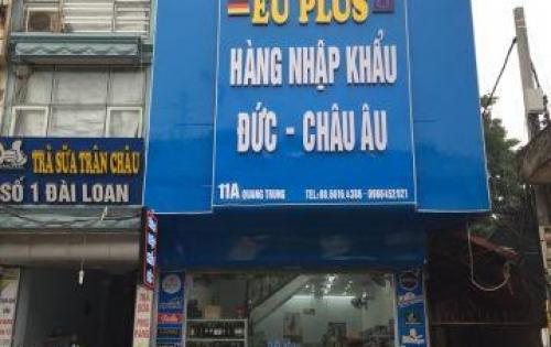 Cần cho thuê nhà mặt phố, tiện kinh doanh Quang Trung, Q. Hà Đông