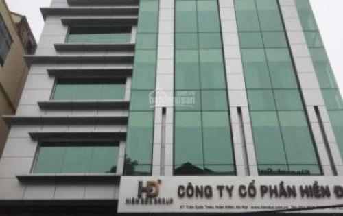 Cho thuê văn phòng tòa nhà nhà mặt phố số 57 Trần Quốc Toản, Quang Trung.