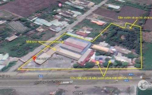 Chính chủ cần bán đất, kho xưởng 8.400m2 huyện Bến Lức, Long An.