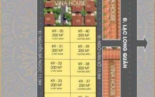 Cần bán lô đất 200m2 khu Vinahouse đường Lạc Long Quân, Điện Dương, Điện Bàn, Quảng Nam