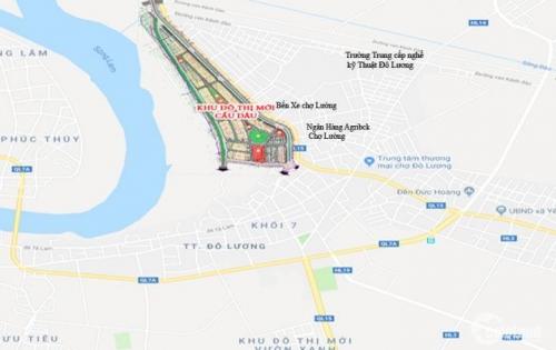 Sốt đất nền Khu đô thị mới Cầu Dâu-dự án đẹp nhất Đô Lương với tiềm năng sinh lời lên đến 80-90%/năm
