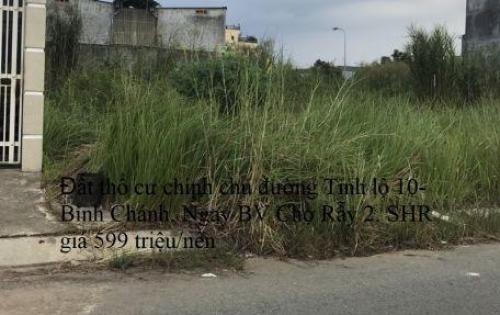 Đất thổ cư chính chủ thị trấn Đức Hòa, mặt tiền Công Viên Võ Văn Tần. 599 triệu/Nền, Có SHR