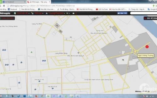 Bán đất phân lô đường 355 kéo dài,gần ngã 3 nông trường, phường Hải Thành, Dương Kinh,HP
