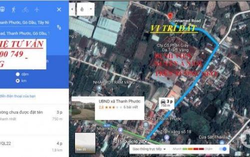 Đất Nền cách Bệnh Viện Xuyên Á Gò Dầu- Tây Ninh  Đúng 230tr