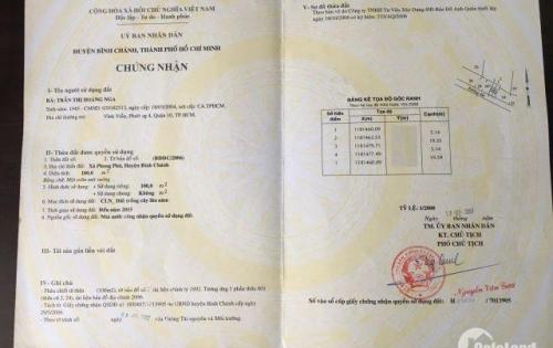 Cần bán 100m2 đất thổ vườn có sổ riêng tại xã Phong Phú , huyện Bình Chánh