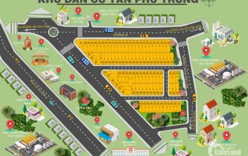 KDC Tân Phú Trung, Cách Bệnh Viện Xuyên Á 1km, Thổ Cư 100%, SHR Từng Nền, LH : 0907639419