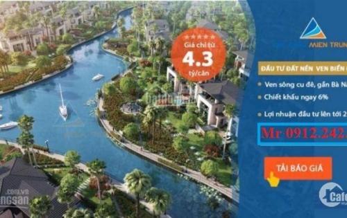 Biệt thự Đảo Xanh 2 mặt tiền của Đất Xanh Miền Trung chính thức mở bán GĐ1, giá từ 13-16tr/m2