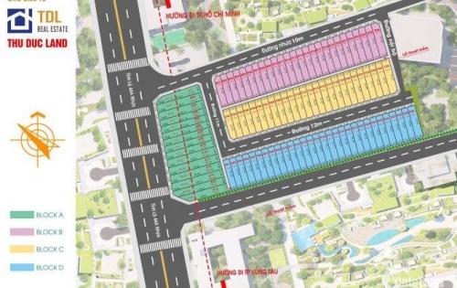 Lô đất dự án Dragon Seagate Bà Rịa, thổ cư 100m2, sổ đỏ từng nền, liên hệ ngay !!