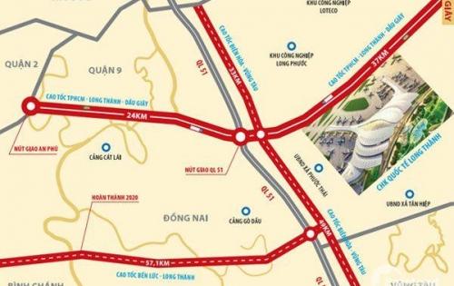 Bán đất Long Thành lô, sào, mẫu gần sân bay Long Thành, chỉ từ 1.3 triệu/m2, d.tích 300m2 - 2ha 0938.809.869