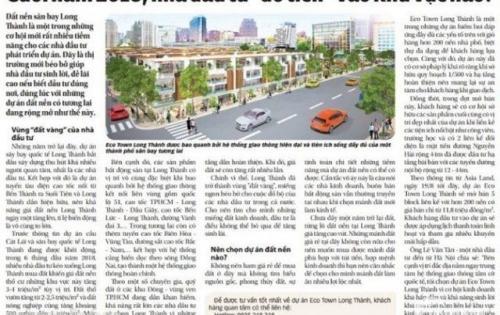 Eco Town Long Thành - giá gốc chủ đầu tư chỉ từ 600tr/ nền, ngân hàng hỗ trợ 50%