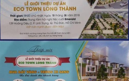 Đất dự án Eco Town Long Thành , cơ hội vàng đầu tư đón đầu sân bay