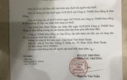 Chính chủ cần bán gấp đất nền 2000m2 78 Nguyễn Đình Chiểu, Bình Thuận.