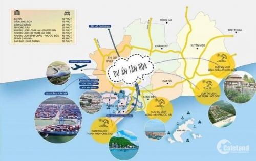 hạ tầng hoàn thiện, ra sổ nhanh, khu dân cư hiện hữu, phát triển, trung tâm các KCN Phú Mỹ 1,2,3, KCN Châu Đức, cảng Cái Mép, mặt tiền đường đi vào KDL, 390tr