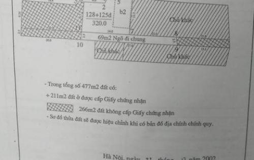 Cần bán lô đất MP Âu Cơ Tây Hồ 290m2 đất 14,5 tỷ có thương lượng