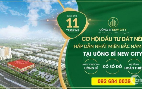Đất nền sổ đỏ Uông Bí New City, Quảng Ninh, đầu tư sinh lời tốt nhất, LH 092 684 0039