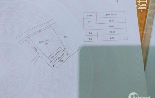 Bán đất xóm Trám định trung, Vĩnh yên, Vĩnh phúc. Dích=120m2. giá 620 triệu.LH:098.9916263