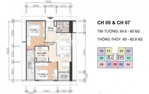 Bán căn hộ chung cư tại Dự án A10 Nam Trung Yên, Cầu Giấy, Hà Nội diện tích 60,9m2 giá 28000000 Triệu/m²