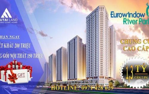 Bán căn hộ dự án Eurowindow River Park cầu Đông Trù giá chỉ từ 1ty5