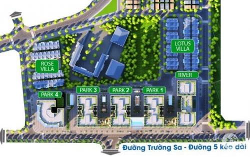 Bán căn hộ dự án Eurowindow River Park cầu Đông Trù giá chỉ 1ty2