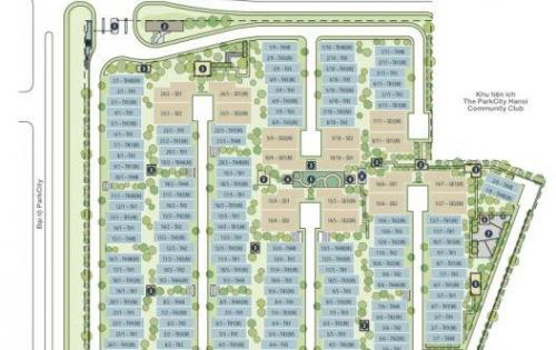 Bán liền kề căn góc dãy 1/5 Evelyne gardens, KĐT Park City Hà Đông, 120m2,Tây Bắc . Lh 0934515659