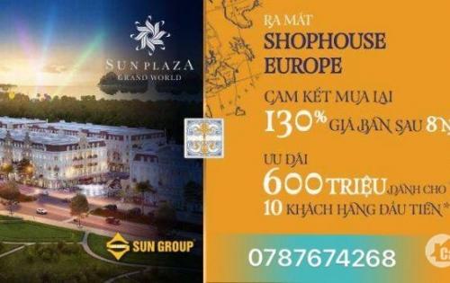 Shophouse Europe - Cam kết mua lại 130% giá bán sau 8 năm